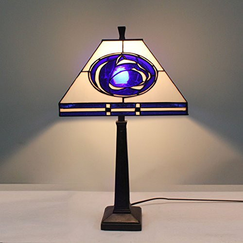 - 12-inch NCAA Penn State Nittany Lions Stained Glass Square Table Lamp
