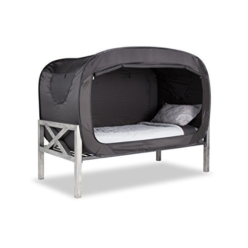Amazon Com Privacy Pop Bed Tent Twin Black Toys Games