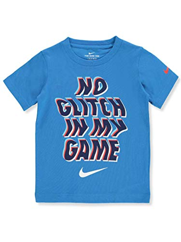 Nike Boys' T-Shirt with Sticker - Blue, 2t