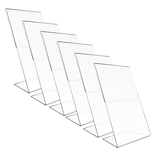 "Victory Light 6 pack Vertical 8x10"" Acrylic Document Menu Holder Photo Frames Sign Holder Sign Display Home (Cheap Photo Booth Frames)"