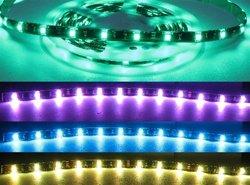 RGB LED Ribbon Flexible Strip-12v, Water Resistant, Black PCB, 5M
