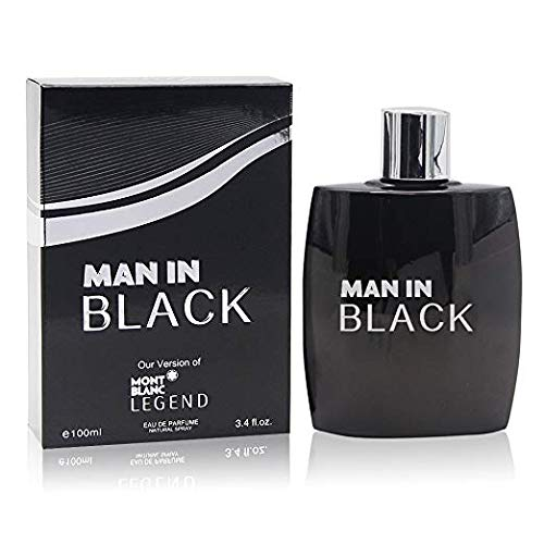 Man In Black Perfume for Men, EDP-3.4 oz, by Secret Plus with a NovoGlow Pouch Included