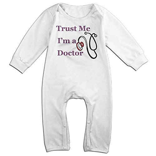Trust Me Iâ€m A Doctor Unisex Baby Fit Bodysuit Long Sleeves Romper Outfit Clothes (Long Sleeve Footlocker)