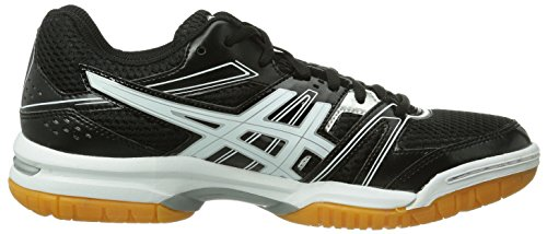 White B455N Black Rocket Gel Asics Court Women's 9001 Silver Shoes Black 7 Multi 1vxRR0w6