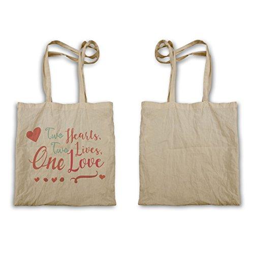 Zwei Herzen Zwei Leben Eine Liebe Tragetasche s420r