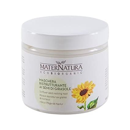 MATERNATURA - Sunflower Seeds Restoring Mask - Intensive care for dry & damaged hair - Organic, Vegan, Nickel Tested, made in Italy - 200ml