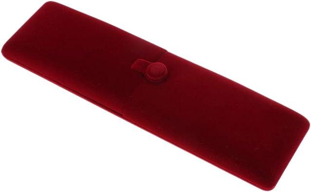 IPOTCH Estuche de Terciopelo Caja de Joyería Accesorios Color Rojo ...