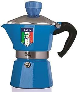 Bialetti Moka Melody Italy - Cafetera (Independiente, Azul, Estufa, De café molido, Manual, 24 cm)