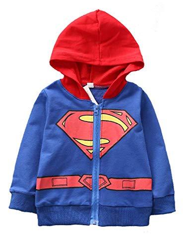 Jurassic World Boys' Cartoon Characters Costume Zip-up Hoodie(Superman, 3T)]()