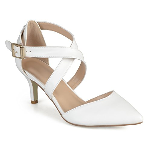 Journee Collectie Damesschoen Matte Pumps Off White
