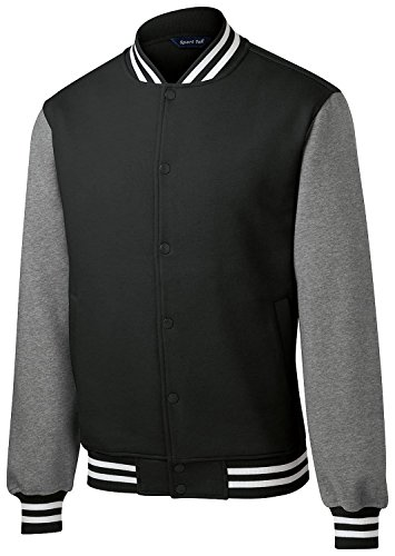 Letterman Jacket Sale (Sport Tek Men's Comfortable Fleece Letterman Jacket Black)