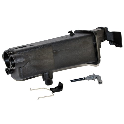 BMW Radiator Coolant Reservoir Expansion Tank + Coolant Sensor + Clip Hamman OEM Quality Bmw 330i Radiator Coolant