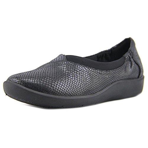 CLARKS Womens Sillian Jetay Closed Toe Loafers, Black, Size 7.0