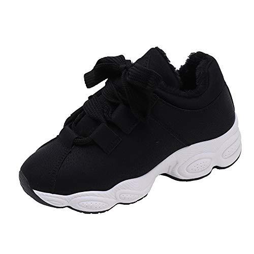 Bozevon Chaussure De Sport - Coton Sauvage D'hiver Chaussures Pour Femmes Épaisses Noir
