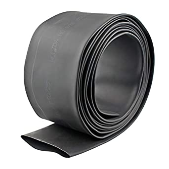 Wire Wrap Electrical Cable Ratio 2:1 Heat Shrinkable Shrinking Sleeving Black 3M // 10Ft, Dia.70mm Heat Shrink Tube