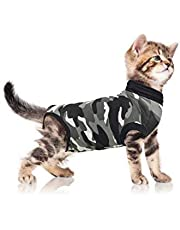 Suitical Recovery Suit Cat, Small, Black Camouflage
