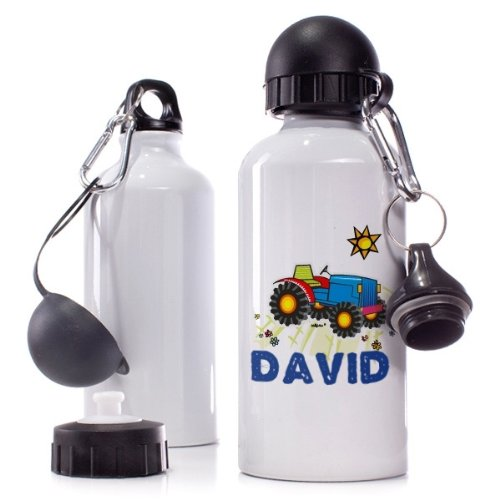 Striefchen/® Trinkflasche Motiv David Traktor Name
