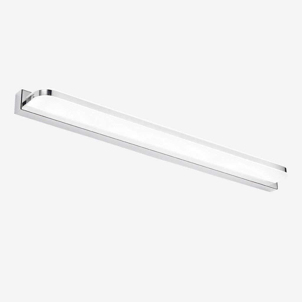 FXING & Bad Beleuchtung wasserdicht Nebel LED LED-Spiegel Licht Einfache Moderne LED-Wandleuchte Acryl Schlafzimmer Badezimmer WC Make-up Lampe Licht (Farbe  Weiß 20W 92 cm)