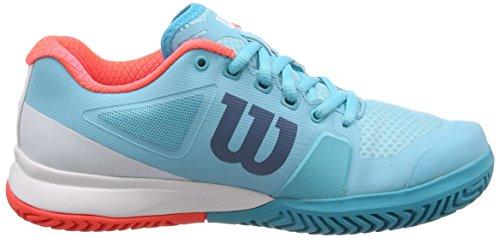 Wilson Womens Rush Pro 2.5 Blu Curacao / Bianco / Corallo Ardente
