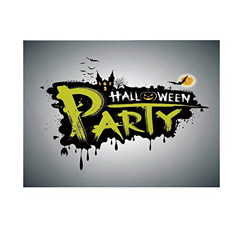 Halloween Photography Background,Halloween Party Hand Drawn Brushstrokes Artistic Design Grunge Cartoon Backdrop for Studio,20x10ft -