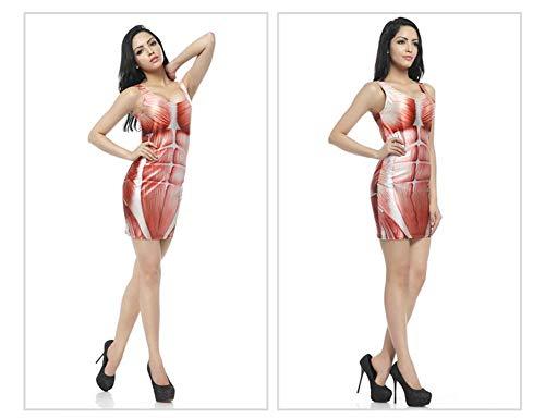 Impression Courte Sanglante Halloween Halloween Taille Robe Numrique HJYJZ Imprime T102 Unique Robe Unitard Femme 3D qBTw1CnZx