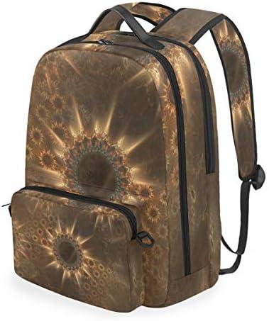 黄金のひまわりアートワークショルダー バックパック メッセンジャー クロスボディ ラップトップ バッグ 学生 スクールバッグ ブックバッグ 女の子 男の子 用