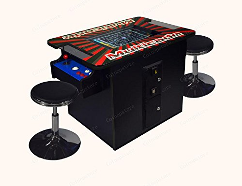 Professionally Made Commercial Quality LED JAMMA Ready 24'' LED Deluxe Vertical Cocktail Arcade Cabinet w Trackballs. Plug and Play Any JAMMA Board! by Proarcades, LLC