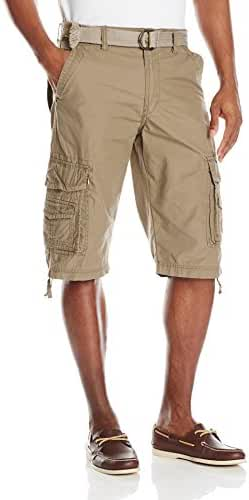 Unionbay Men's Cordova Belted Cargo Short Messenger - Reg and Big & Tall Sizes