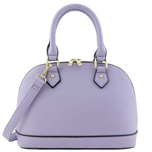 Purple Satchel Handbag - 8