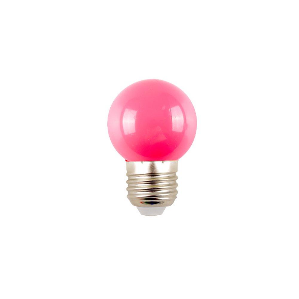 GZQ E27 Bulbs Modern LED Christmas Party Light Bulb Lamp for Home Loft Bedside Bedroom Bar Cafe Decor (Pink, 10 PCS)