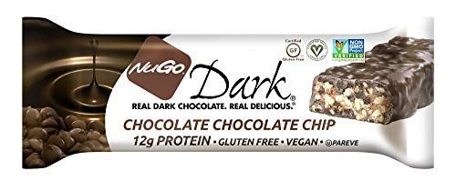 NuGo Dark Choc Chocolate Chip, 1.76-Ounce (Pack of 12) ()