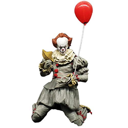PLAYER-C 18Cm Stephen Kings It Pennywise Joker Clown Movable PVC Action Figure Toys Dolls Balloon Halloween Day ()