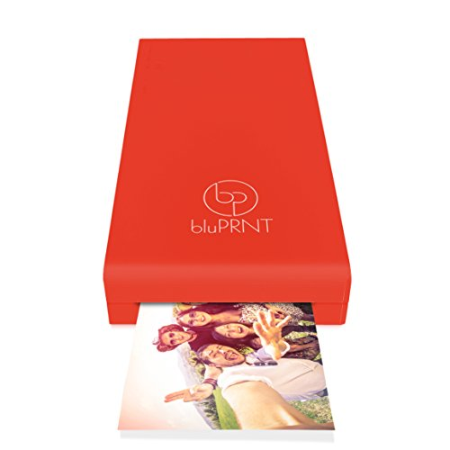 bluPRNT Instant Portable Printer for Smartphone Social Media Photos With WiFi & NFC, Compatible With only Android - Red by BluPrnt (Image #7)