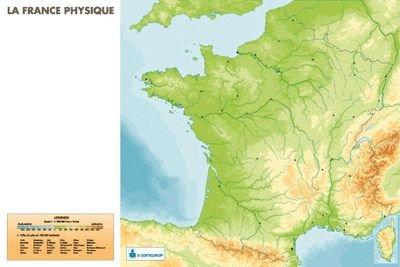 Cartina Fisica Muta Della Francia.Scheda Di Francia Fisica 120 X 80 Cm Amazon It Cancelleria