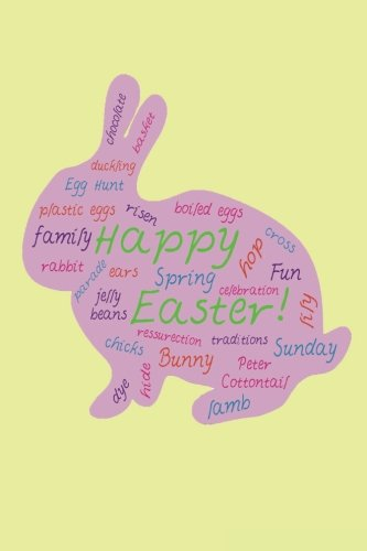 """Download Happy Easter!: Yellow BLANK JOURNAL LOG DOODLE SKETCH DRAWing NOTE BOOK NO LINES UNRULED 6"""" X 9"""" 186 PAGES PDF"""