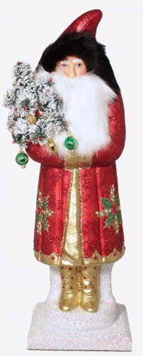 Ino Schaller Halloween (Pinnacle Peak Trading Company Ino Schaller Large Red Holly Leaf Santa with Swarovski Crystals Paper)