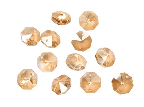 Sun Cling® Crystal 14mm Octagon Beads, Pack of 100 (Champagne gold AB) - Ab 14mm Crystal Beads