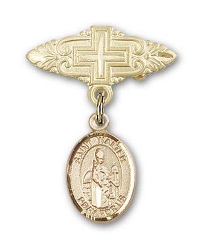 Icecarats Or Bijoux De Créateurs Rempli R. Walter De La Broche De Badge Charme Pontnoise Avec Croix 1 X 3/4