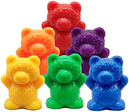 Rapoyo 90 Stück Zählbären Bunte Zählen Bären mit passenden