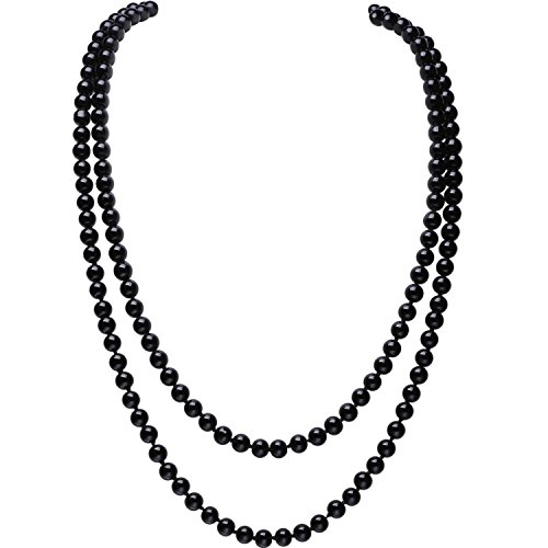 [BABEYOND ART DECO Fashion Faux Pearls Flapper Beads Cluster Long Pearl Necklace 55