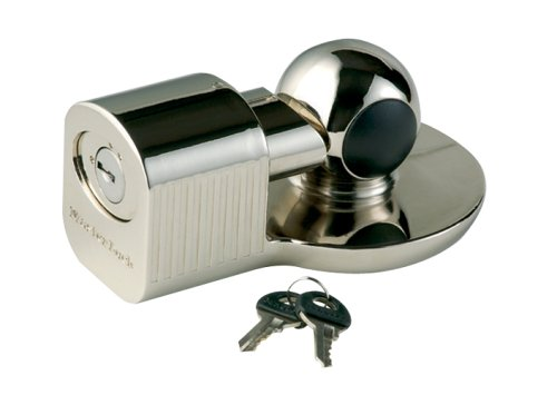 Master Lock 470-377DAT Nickel Chrome Finish, Zinc Die Cast Coupler Lock ()