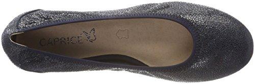 Caprice Damen 22100 Geschlossene Ballerinas Blau (Ocean Multi 808)