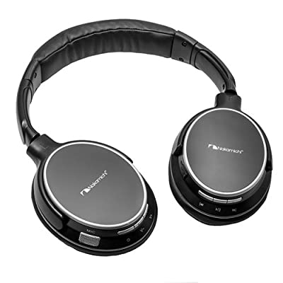 Nakamichi Over the Ear Bluetooth Headphones BT304 - Retail Packaging - Black
