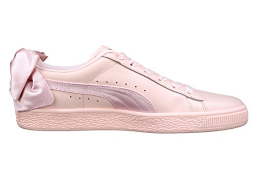 Puma Rose Femme Wn's Basket Basses Sneakers Taille Weiß Bow Unique 7OzrPq7