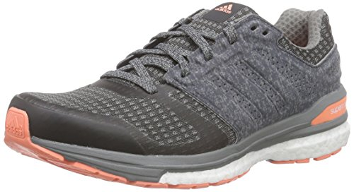 adidas Damen Supernova Sequence Boost 8 Laufschuhe, Grau (DGH Solid Grey/Ch Solid Grey/Sun Glow S16), 37 1/3 EU
