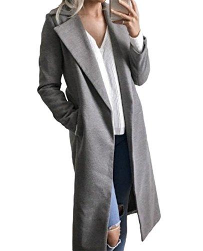 fd54c7508b31 Sentao Élégant Manteaux Hiver Femme Veste Manteau Long Parkas Trench-Coat  Classique Manches Longues Outwear Blazer Veste  Amazon.fr  Vêtements et ...
