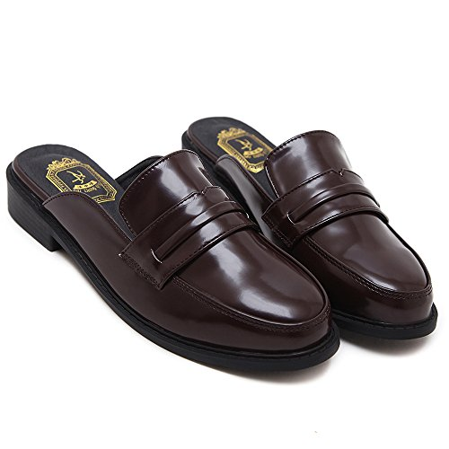 On for Women Mule Brown Slippers Loafers Slip Backless Loafers Womens Loafers AGoGo wq0xAROpx