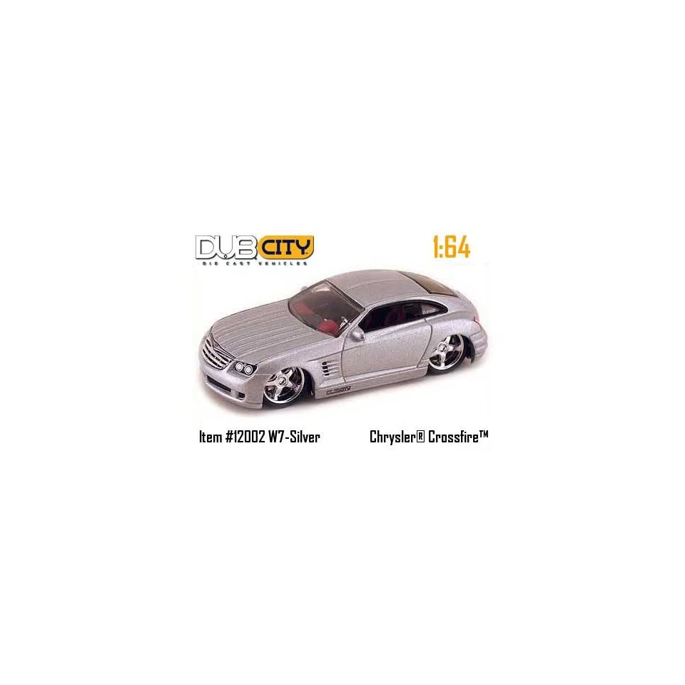 Jada Dub City Silver Chrysler Crossfire 164 Scale Die Cast Car