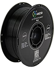 AMZ3D 1.75mm PLA 3D Printer Filament, Black, 1 Kg spool (2.2 lbs)
