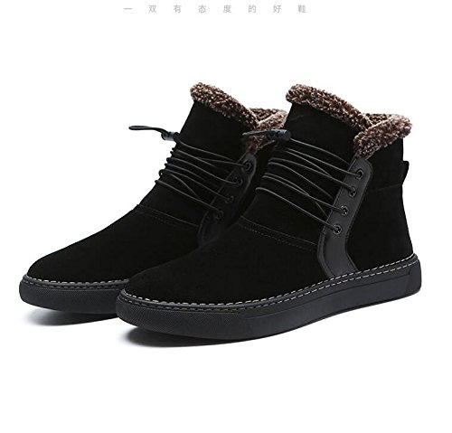 Men with high velvet warm winter boots all-match British short boots for Martin,39 black by ZRLsly (Image #4)